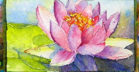 watercolor lotus tutorial how to paint the waterlily with lotus flower miniature