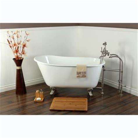 old style bathtubs slipper cast iron 53 inch clawfoot bathtub by kingston