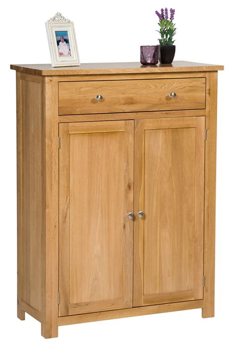 Large Shoe Storage Cabinet Large Oak Shoe Storage Cabinet Wooden Hallway Cupboard Organiser With Drawer Ebay