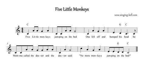 5 little monkeys jumping on the bed lyrics free nursery rhymes gt five little monkeys free mp3 audio download