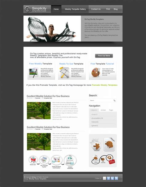 weebly site templates weebly theme gallary orchid premium weebly website design
