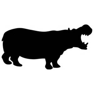 Large Chalkboard Wall Decal Hippo Silhouette Chalkboard Wall Decal Wilsongraphics