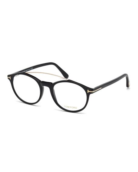Tomford Optical Black Brown by Tom Ford Brow Bar Optical Frames Brown Pattern In