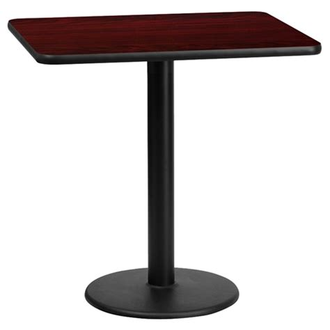 Rectangular Dining Table With Pedestal Base 24 Quot X 30 Quot Rectangular Dining Table Black Mahogany Pedestal Base Dcg Stores