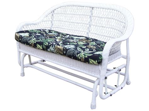 wicker glider loveseat oakland living resin wicker cushion arm glider loveseat