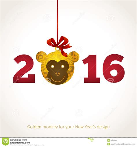 new year monkey element illustration of 2016 year of the monkey stock vector