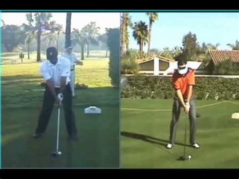 stack and tilt golf swing drills tiger woods vs stack and tilt youtube