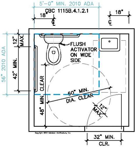 Bathroom: Handicap Bathroom Dimensions With Easy Guide To