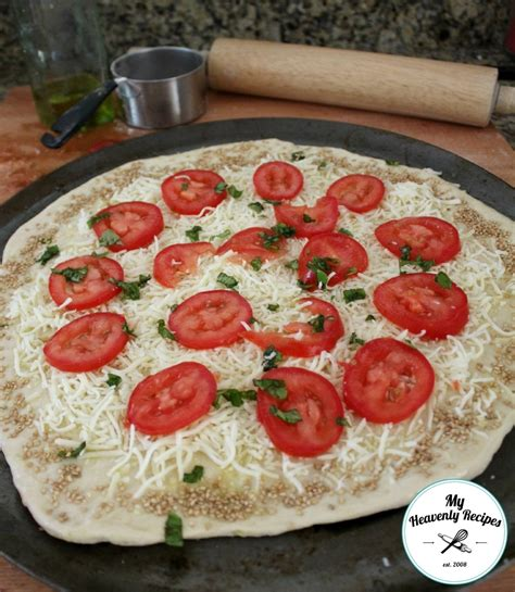 Easy Handmade Pizza Dough - pizza dough my heavenly recipes