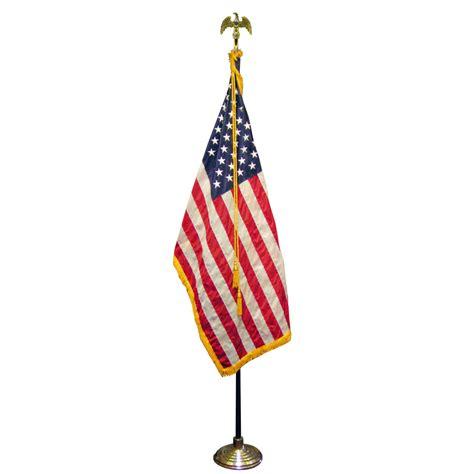 3ft x 5ft american ceremonial flag set flags international