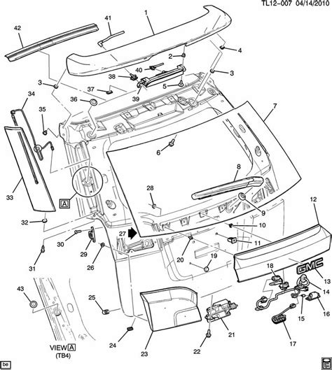 gmc parts diagram 2012 gmc terrain liftgate parts diagram gmc auto wiring