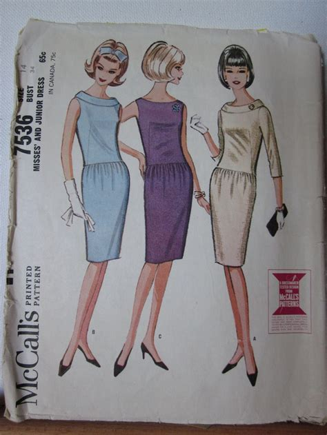 sewing pattern dress up mccalls 7536 1960s sewing pattern misses and junior dress