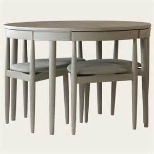 Round table with four chairs three legs furniture mid