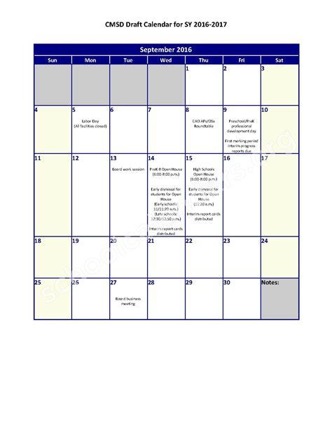 School District Calendar 2016 2016 2017 District Calendar Calendar Detail