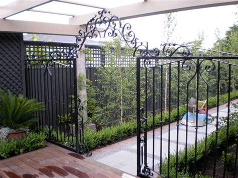 Wrought Iron Garden Fence by Gallery Warp Iron Works