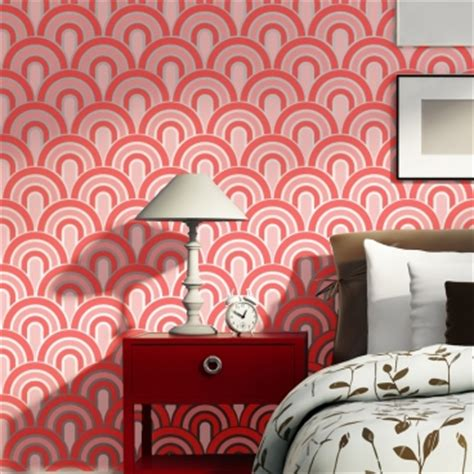 Wall Stencils Scallop Pattern Allover stencil for Painting