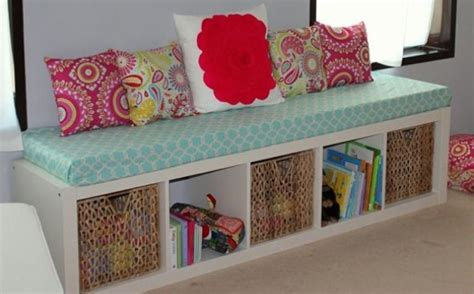 bookshelf bench diy decorations