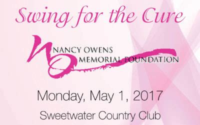 swing for the cure golf tournament nancy owens memorial foundation