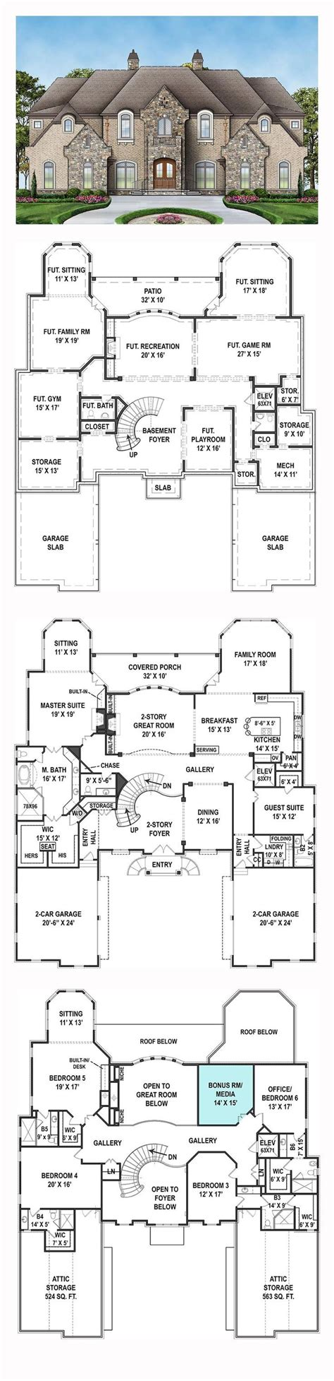6 bedroom house floor plans best 25 new house plans ideas on house plans