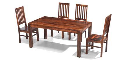Sheesham Dining Table And Chairs Cube Sheesham 160 Cm Dining Table And 4 Chairs Quercus Living