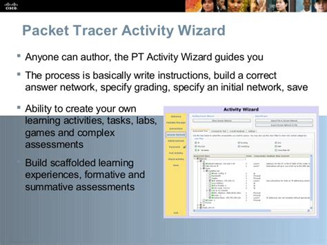 Cisco Packet Tracer Activity Wizard Tutorial | cisco packettracer overview 20jul09
