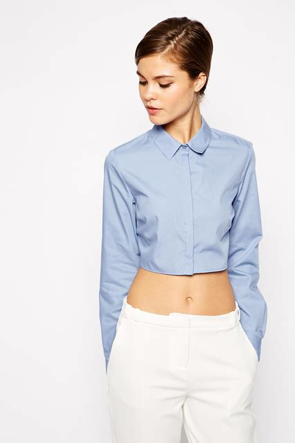 Style Vintage Tees Crop Top Original Design Zara source vices the formal asos crop shirt the source