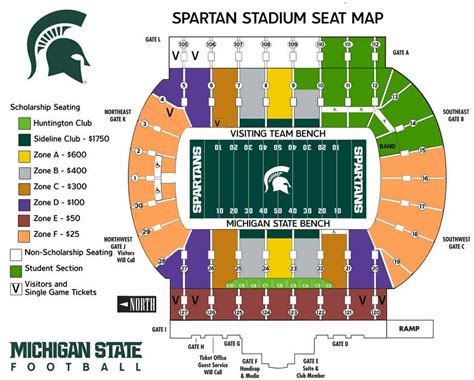 michigan state football seating chart michigan state official athletic site