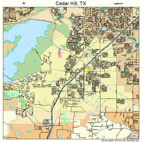 map of cedar hill texas cedar hill texas map 4813492