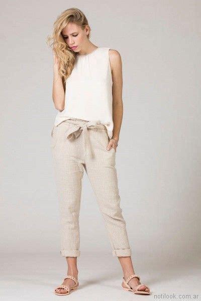 blusas de lino para mujer blusa con pantalin de lino verano 2018 julien ropa