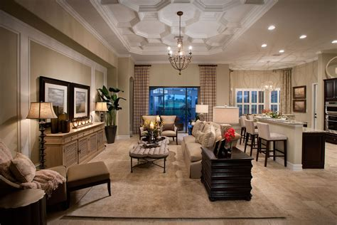 model home living room lennar homes bougainvillea model in runaway bay at fiddler s creek wins cbia award