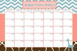 baby pool calendar template customize baby calendar for baby shower pool giraffe