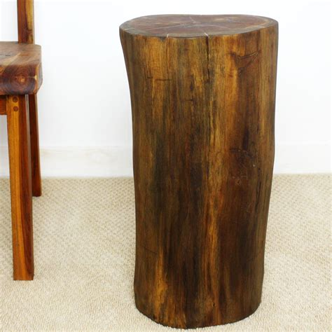 wood stump end table end table teak wood stump 11 quot living room furniture
