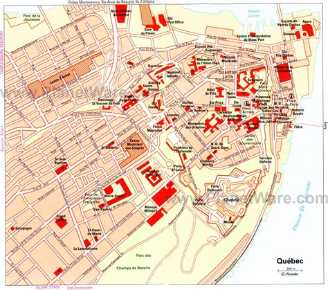 Printable Map Quebec City | 15 top rated tourist attractions in quebec city planetware