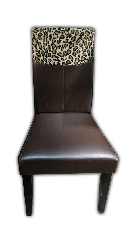 Leopard Print Dining Chairs Dining Chair With Leopard Print Kaki Lelong Everything Second