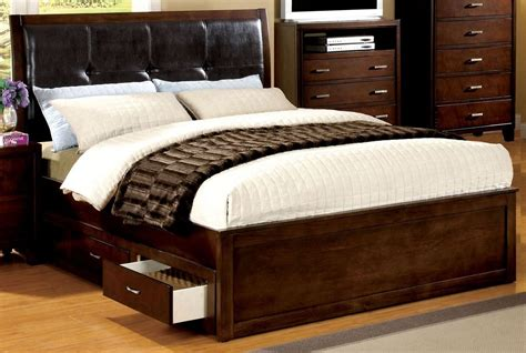 cherry king bed enrico iv cherry king platform storage bed from furniture