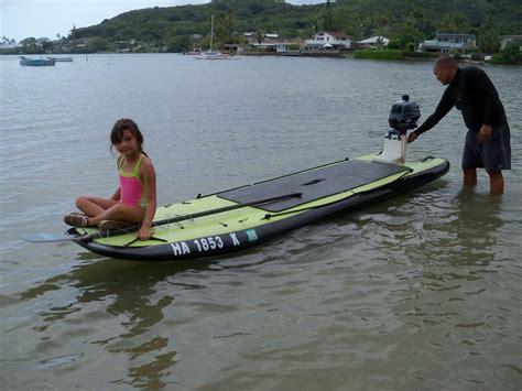 boats on board motorized fishing surfboard sup combination swaylocks