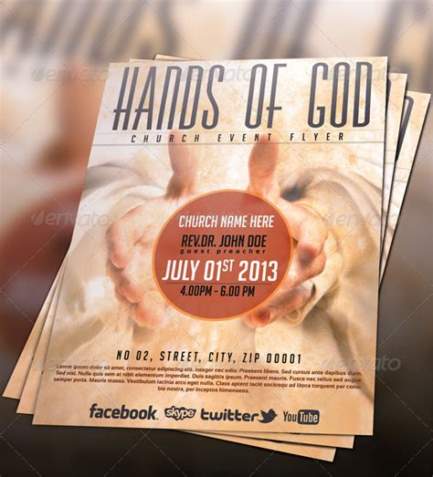 Hands Of God Church Flyer By Pmvch Graphicriver Church Flyer Template