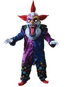 Scary Clown Costumes Deluxe Evil Clown Costume Ta111 Fancy Dress Ball