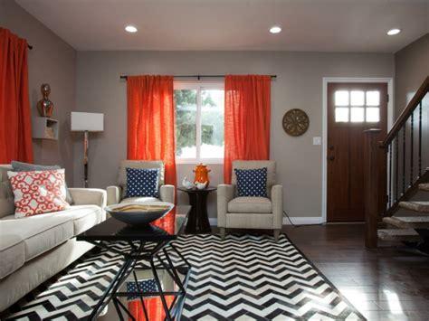 muster wohnzimmer wohnzimmer gardinen orange zig zag muster dekokissen