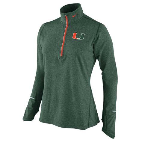Sweter Jaket Ziper Nike nike s miami hurricanes heathered half zip pullover