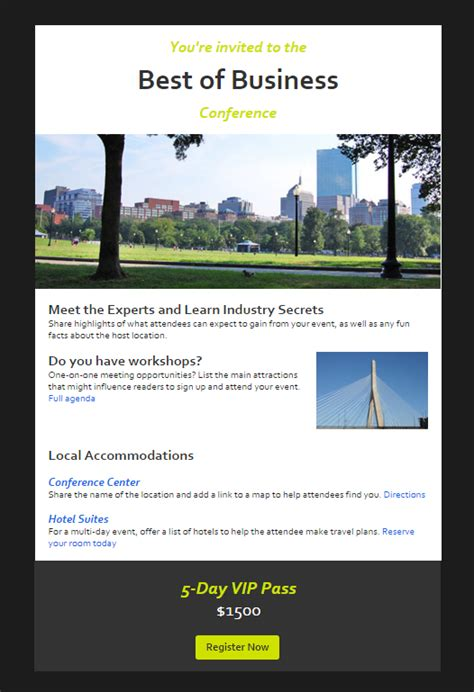 event newsletter template 14 newsletter designs your customers will