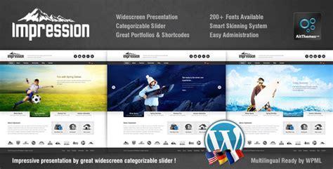 wordpress themes presentation impression corporate presentation wp theme themeforest