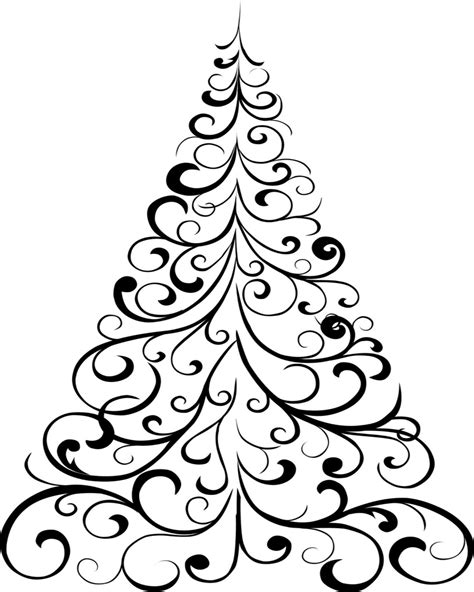 simple christmas tree coloring pages  getcoloringscom