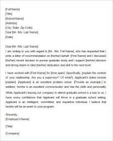 Cover Letter For Graduate Programme by Letter Of Recommendation Master Programme Cover Letter