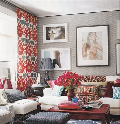 red and blue home decor 15 lively and colorful curtain ideas for the living room