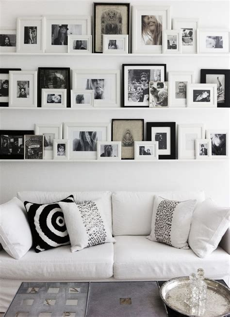 gallery wall but change put shelf in middle and pictures best 20 gallery wall shelves ideas on pinterest