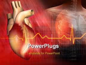 Cardiac Ppt Template by Digital Illustration Of A And Human Powerpoint