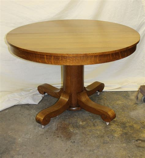quarter table bargain s antiques 187 archive solid quarter sawn oak table with 3 leaves