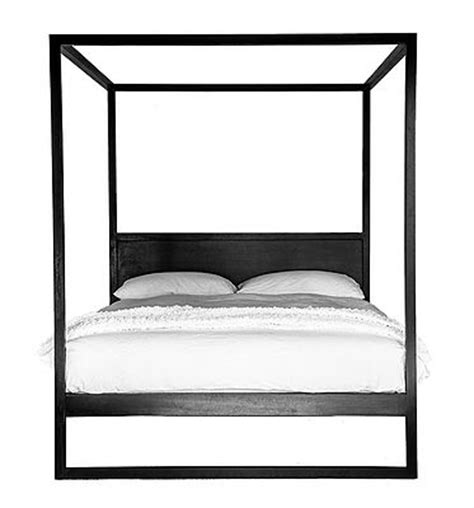 black poster bed uniqwa 4 poster timber bed black queen twopairs