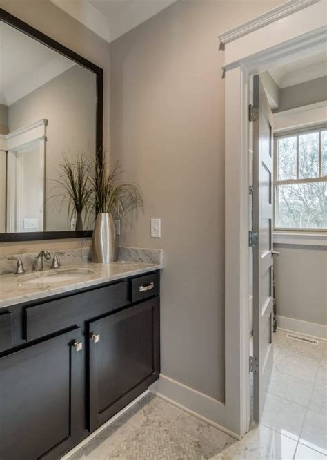 transitional bathroom  sherwin williams colonnade gray
